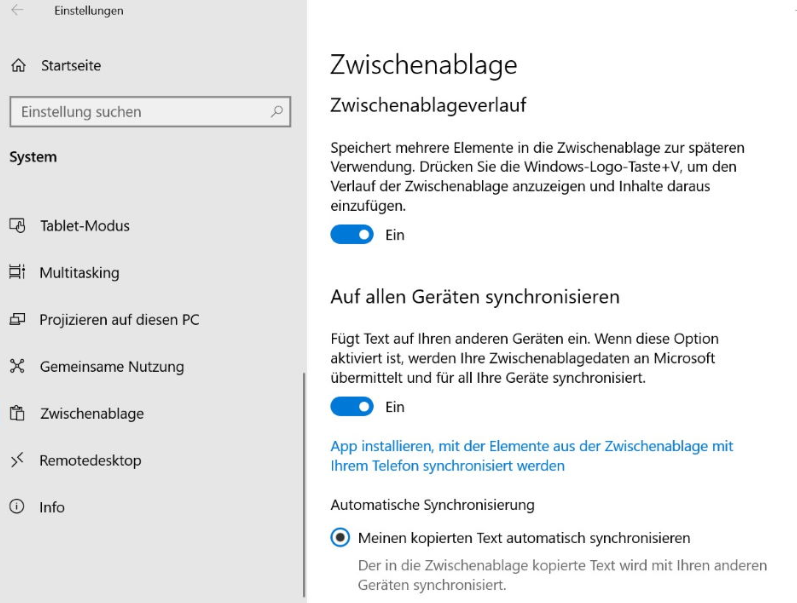 Zwischenablage Windows 10 How to